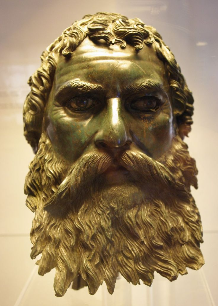 THE SLAVIC HEAD. LIFE SIZE BRONZE WITH GLASS EYES.