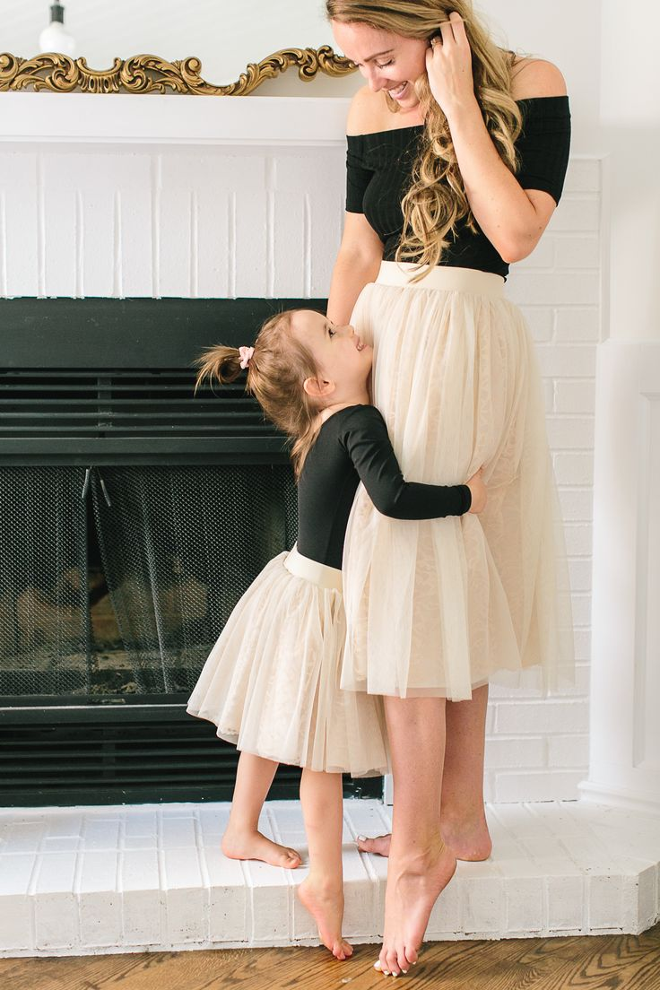 Bonjour Bliss Mommy and Me tulle skirt set by Bliss Tulle [Tamara Lockwood Photography]