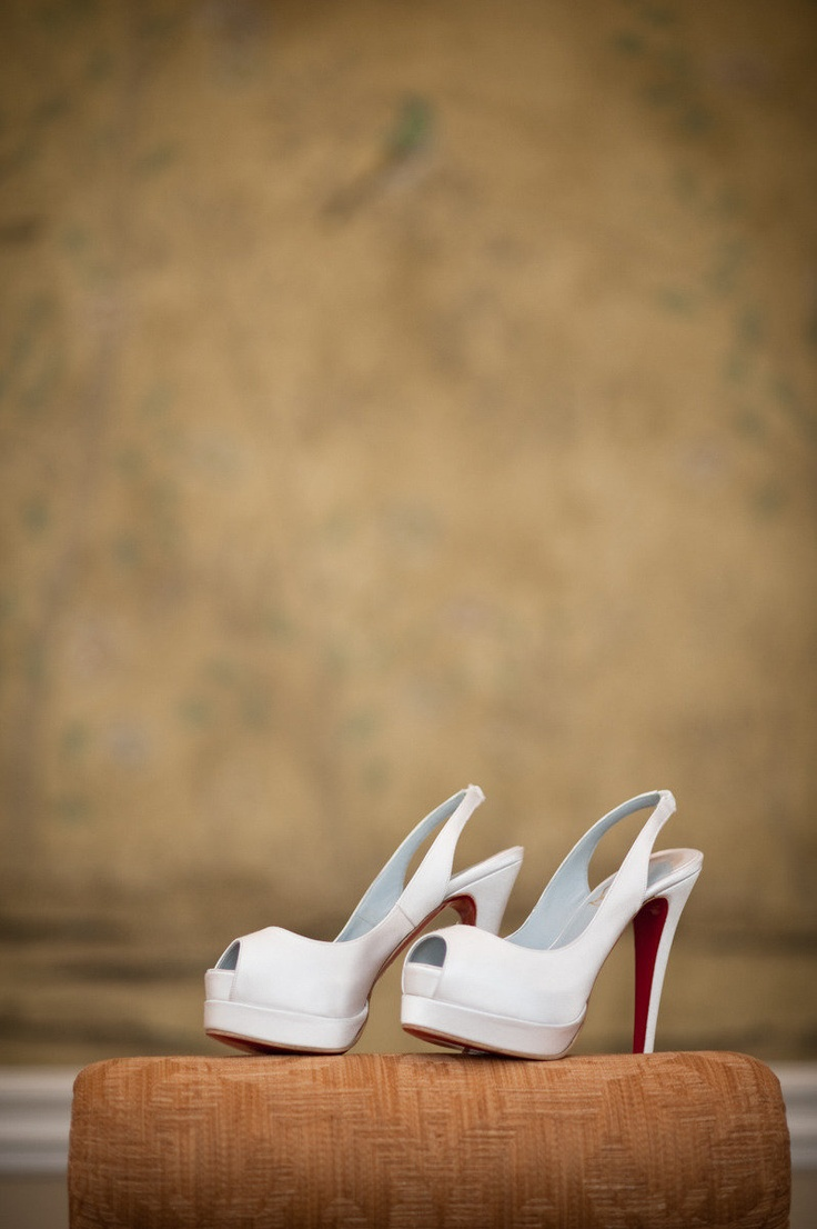 Pure White Louboutin's ;) Photography by cbaileyphotography.com