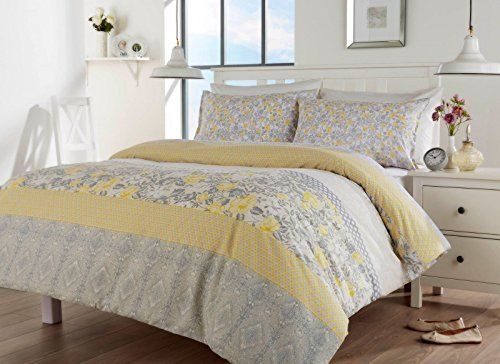 Oriental Birds Floral Grey Yellow Spice Red Duvet Quilt Cover Bed Set King Grey Yellow Amazon Co Uk K Quilt Sets Bedding Bedding Sets Bed Linens Luxury