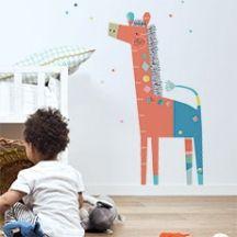 Toise enfant girafe moderne
