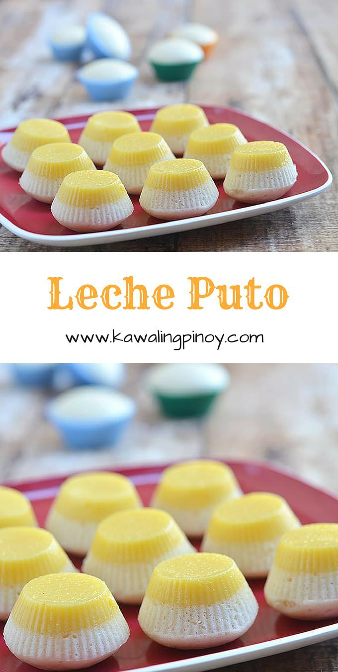 Leche Puto is a Filipino dessert combining two favorites (leche flan and puto) into one delectable treat