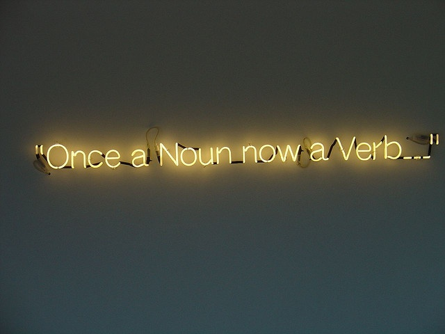 Once a Noun now a Verb... by artist Cerith Wyn Evans, 2005