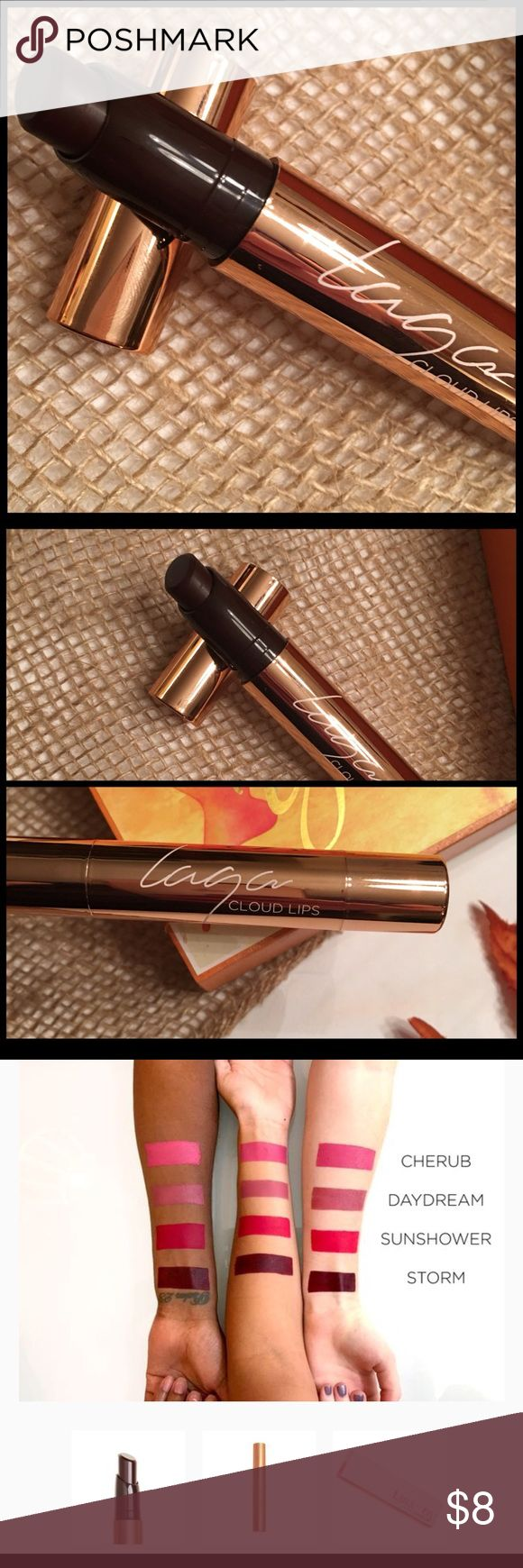 "🍁LAQA & CO. CLOUD LIPS🍁 🍁BRAND NEW & UNUSED🍁 Did not come with a box. LAQA & CO CLOUD LIPS IN THE COLOR ""STORM"" 3rd picture shows the color swatched. It's a dark brown, burgundy color. Perfect for fall and winter! The color is just too dark for me. It's a full coverage matte lipstick. Highly pigmented and long lasting. Received in my Boxycharm sub box.                                   🍁BUNDLE TO SAVE 20%🍁 LAQA & CO Makeup Lipstick"