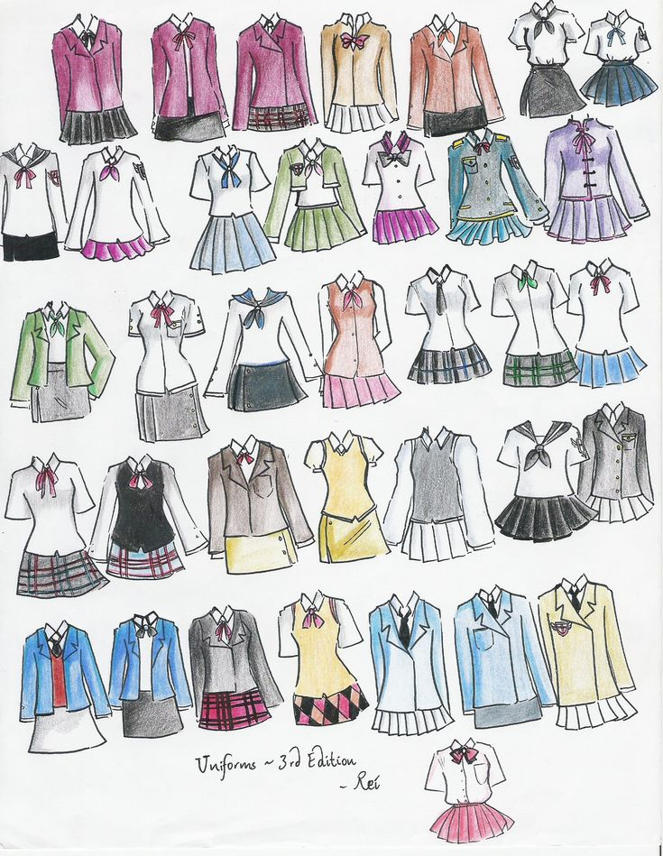 school uniforms 3rd edition by NeonGenesisEVARei.deviantart.com on @deviantART