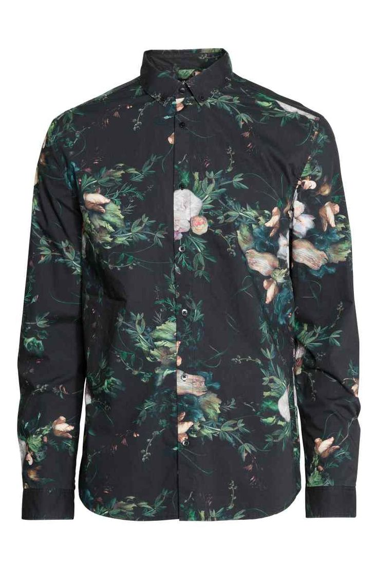 Bawełniana koszula we wzory | H&M