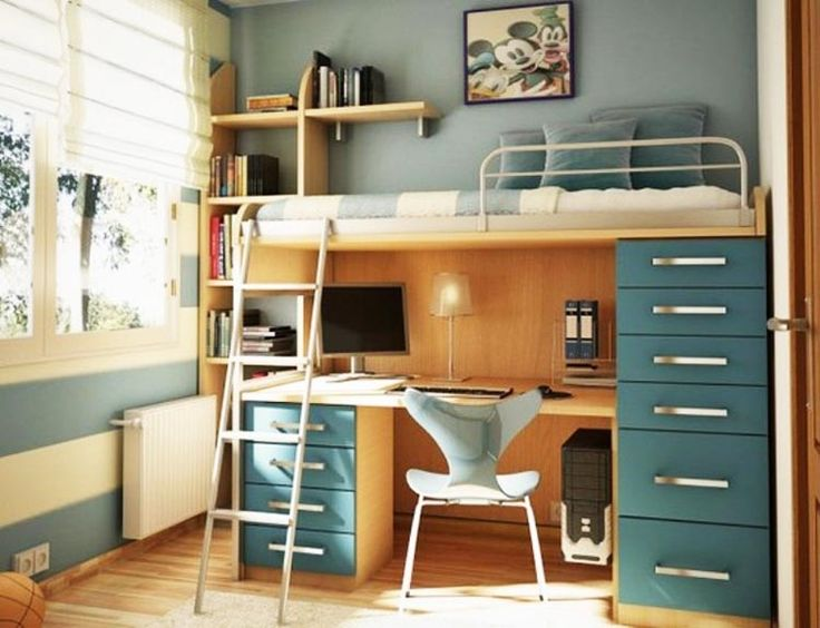 Chic Loft Beds with Desk for Kids