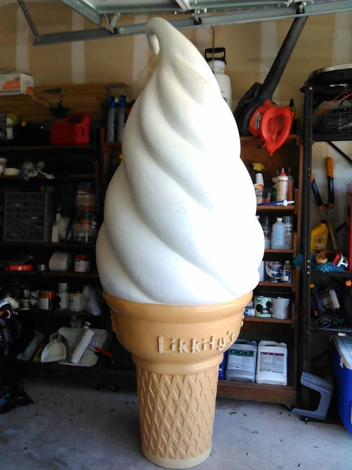 Drew Mata Prieto‎ made this delicious ice cream cone just in time for Summer.  Good news is, it will never melt!  Bad news? Well, you can't eat it. :( #FoamIcecream #FoamProps