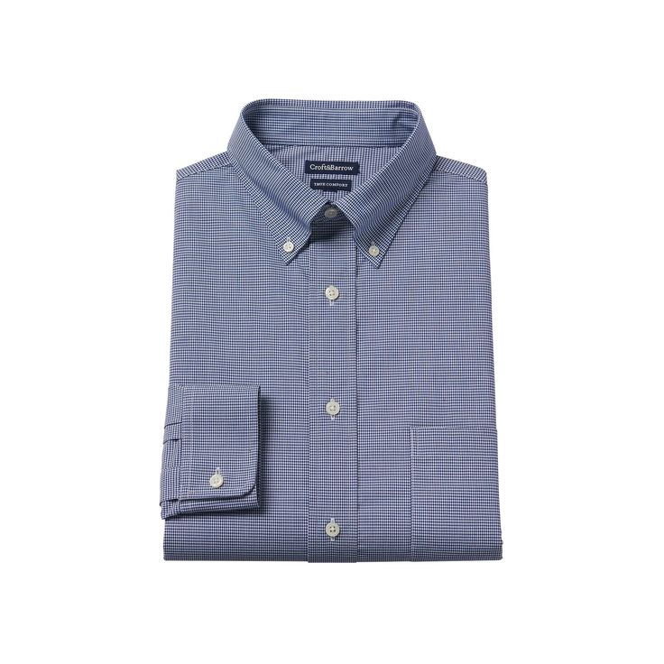 Men's Croft & Barrow® Easy-Care True Comfort Regular-Fit Stretch Dress Shirt, Size: 17.5-34/35, Blue