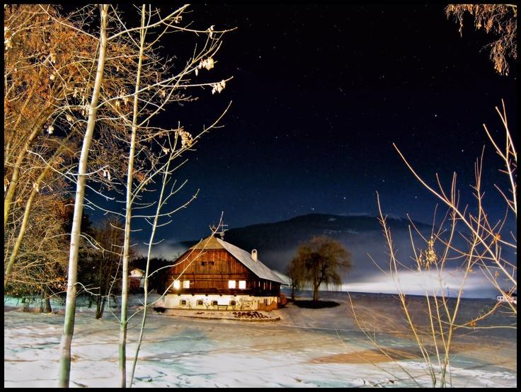 "Valdaora, Kronplatz,Italy, Winter, House, ""Home sweet Home"", Night, Snow, Mountain"