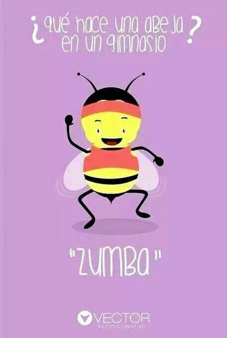 ¿Qué hace una abeja en un gimnasio? ¡Zumba! Feliz viernes
