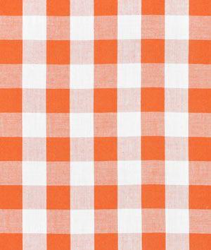 """1"""" Orange Gingham Fabric"""