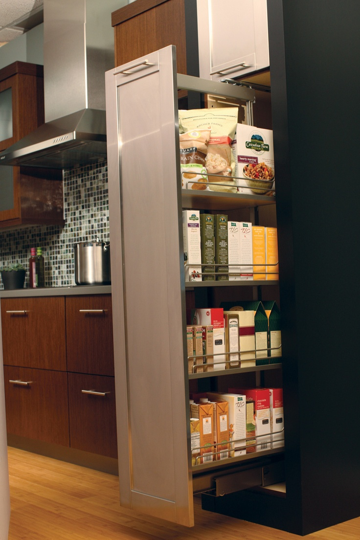Tall Pull Out Pantry Provides An Amazing Amount Of
