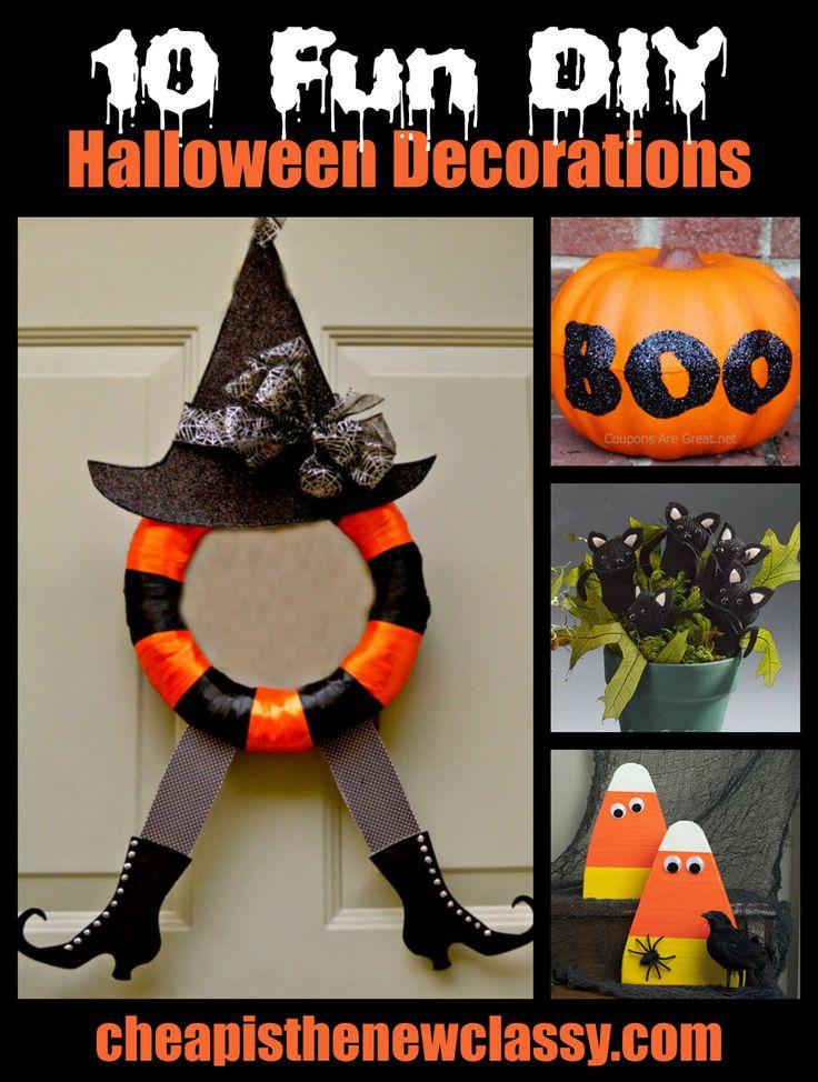 510 best Halloween images on Pinterest Halloween stuff, Halloween - fun homemade halloween decorations