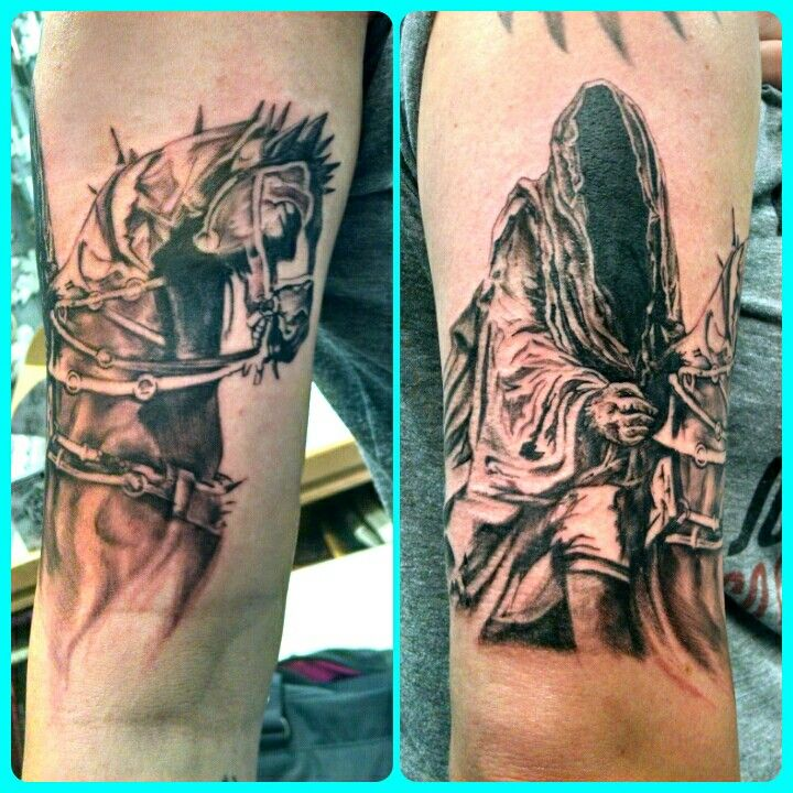 Lord of the rings ringwraith nazgul tattoo my tattoos for Lord of the rings tattoo