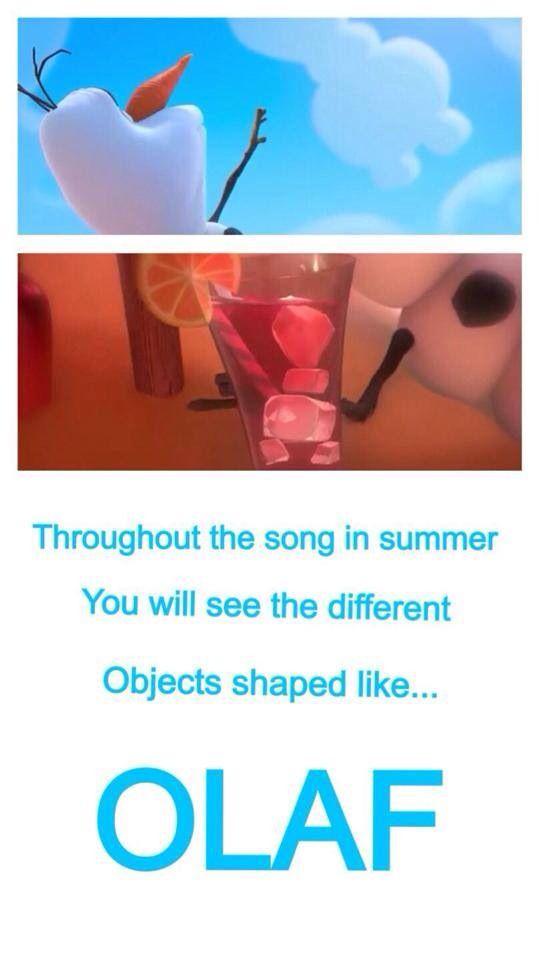 """Disney Frozen eye catchers & facts Olaf """"In Summer"""""""