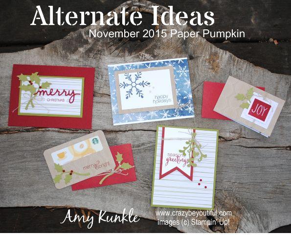 alternate ideas, November 2015 Paper Pumpkin, paper pumpkin, stampin up