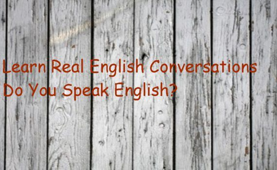 Learn Real English Conversations 1