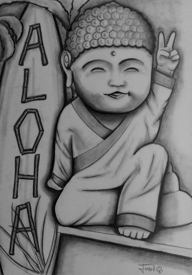 Drawing pencil, little Hawaiian Buddha