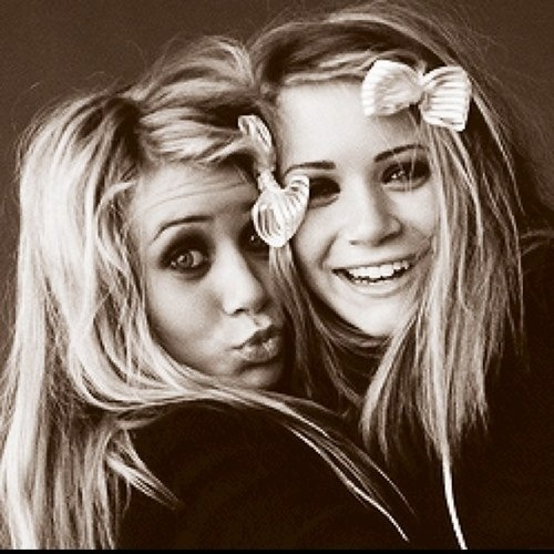 Olsen sister's, I love this picture, it reminds me of something me and my sister have