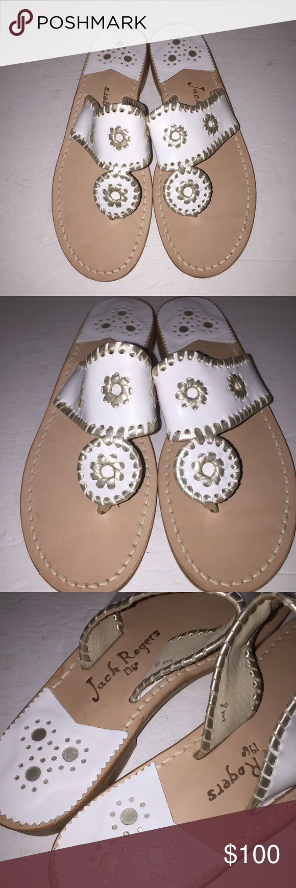 Jack Rogers White Navajo Sandals sz 8 New no box Jack Rogers Shoes Sandals