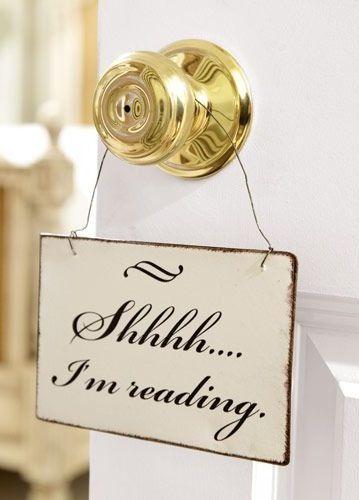 Shhh, I'm reading.