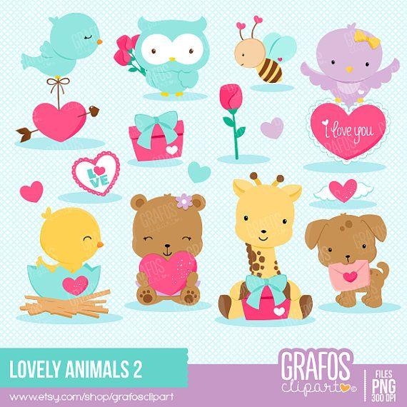 LOVELY ANIMALS 2 Digital Clipart Set Bear by GRAFOSclipart