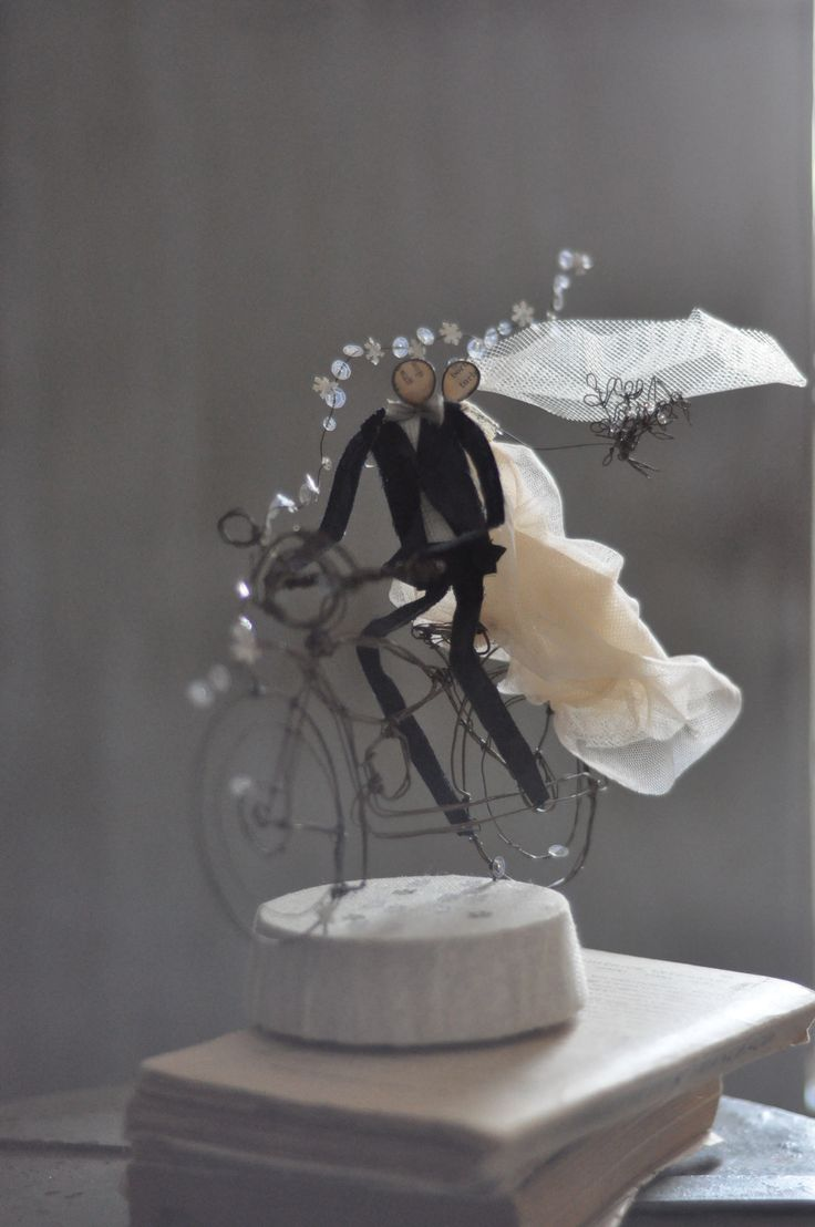 "wedding cake topper, ""on the road again, but together"""