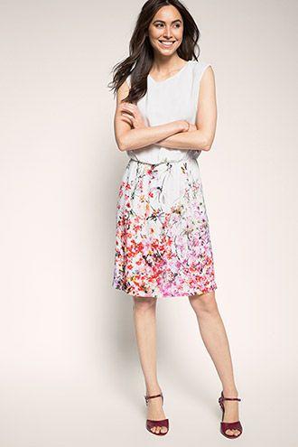 Watercolour floral print dress