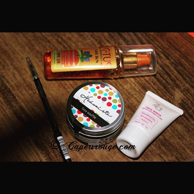 #RougeUp with the #SummerEssentials  1. Face Clean Up a. Headonista  chocolate Scuffle b. Za Clay Mask Clean-up  2. Lotus Gel Sunscreeen  3. Catrice Smokey Kohl  Stay sassy  and let summers love your skin