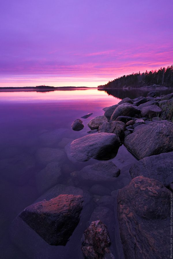 Ladoga islands - unique archipelago in the northwest of Ladoga lake, outside of St. Petersburg, Russia.