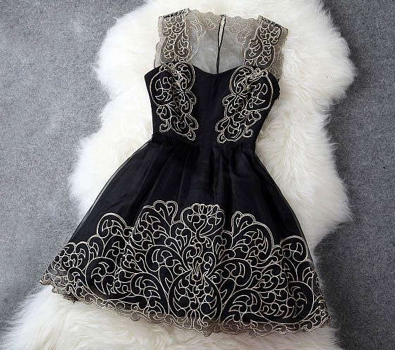 Black Lace Dress #100