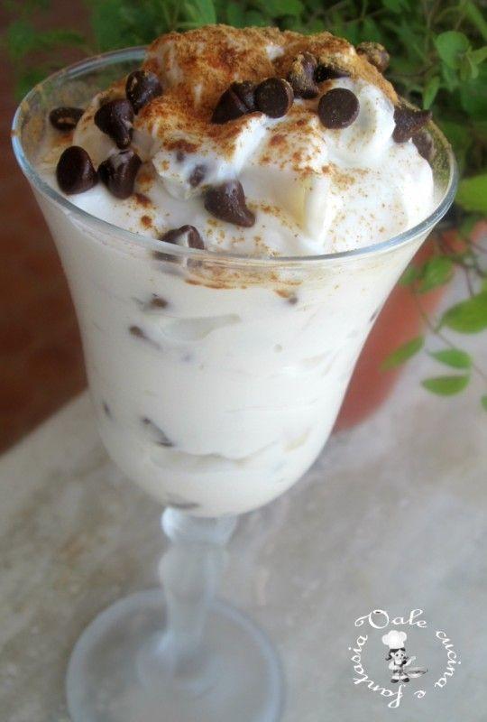 Crema alla ricotta con pere e cioccolato