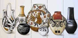 Native American tile art portraits and decorative southwestern tile, Pueblo, Mata Ortiz, Mexican pottery. Designs, ideas, based on tribal history and culture.