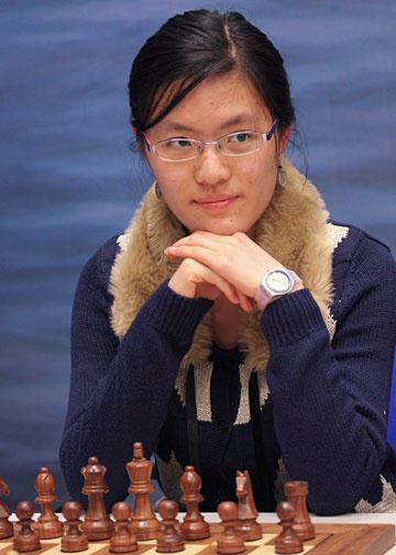 Former Women's World Champion Hou Yifan, 18 years old