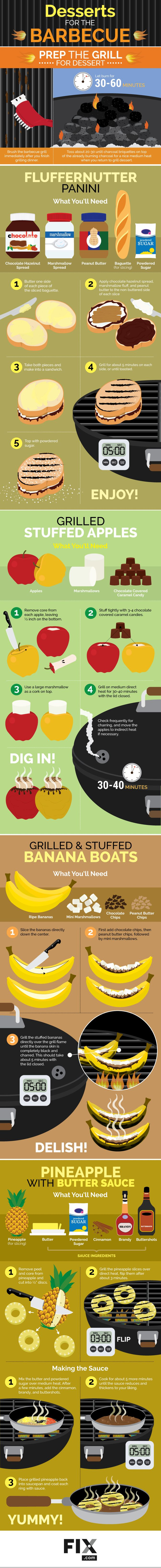 Desserts for the Barbecue #Infographic #Food