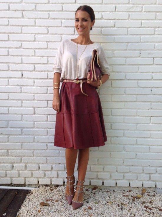 Falda de piel Yerse, edición limitada Pasarela 080 Colección FW 13/14 Blog Paula Echevarría Revista Elle