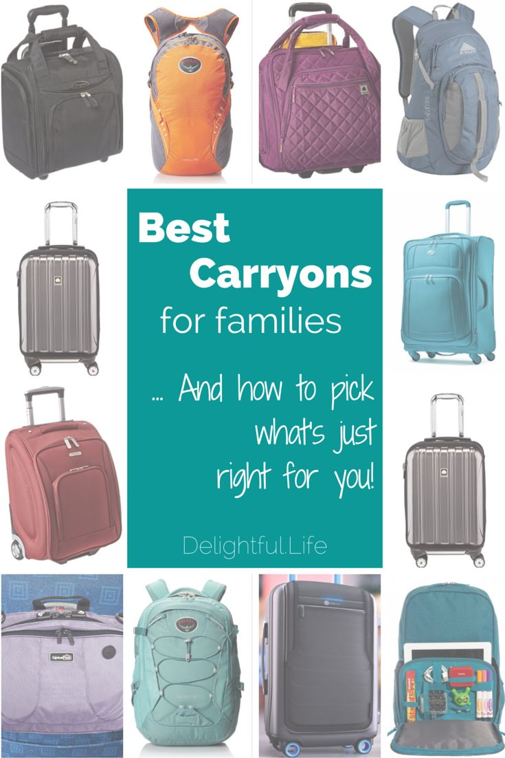 Looking for the best carry on luggage for your family? We look at suitcases, underseat bags, backpacks and more and help you decide!