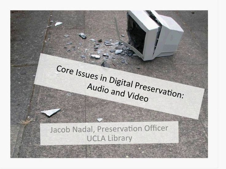 Digital Preservation: Audio and Video Formats on Vimeo