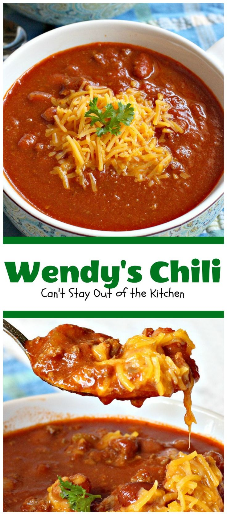 Wendy's Chili | Can't Stay Out of the Kitchen | fabulous #copycat recipe for…