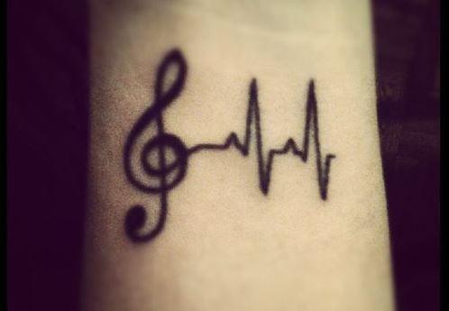 tatuaje de clave de sol y ritmo cardiaco - Buscar con Google