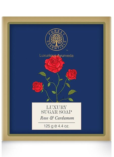 Forest Essentials Luxury Sugar Soap Rose & Cardamom