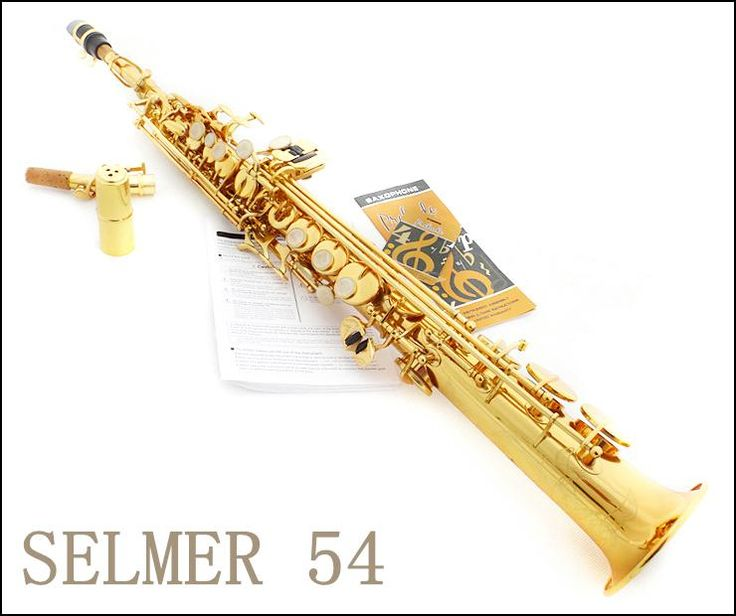 [Visit to Buy] Soprano Saxophone New French Selmer 54 High-pitch One Piece Straight B Flat Sax Top Musical Instrument boquilha Saxophone #Advertisement