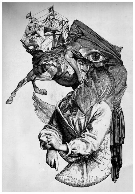 Allessandro MaffiolettiGraphics Design Art, Graphics Illustration, Illustrationgrafics Design, Surrealism Collage, Drawing, 52 Alvvinotapirulan Jpg, Maffioletti Surrealism, Collage Work, Alessandro Maffioletti