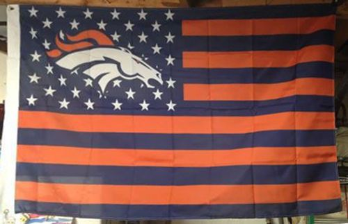New NFL Denver Broncos USA American Stars & Stripes Flag 3' x 5' ft