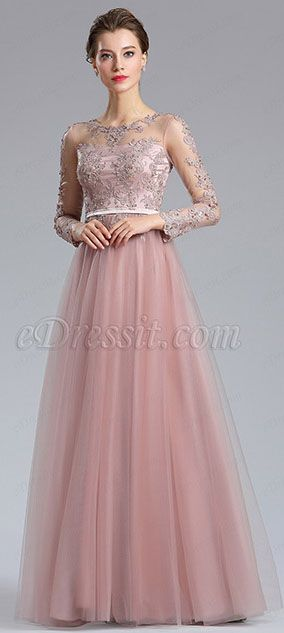 568473491a64 Elegant Blush Lace Appliques Evening Dress Homecoming Dress 2018-2019 # eDressit