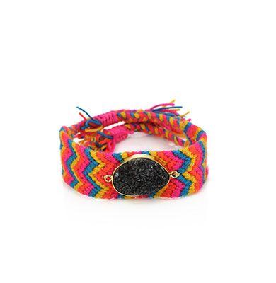 Wayuu Armband met Edelsteen 102 - €39,95