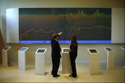 interactive video-wall installation