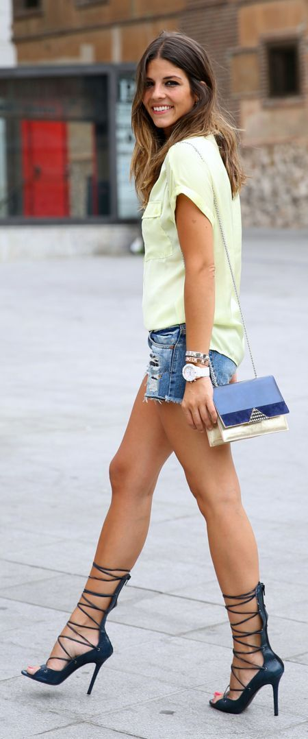 Victoria's Secret Style: Laced Up Sandals Streetstyle by TrendyTaste