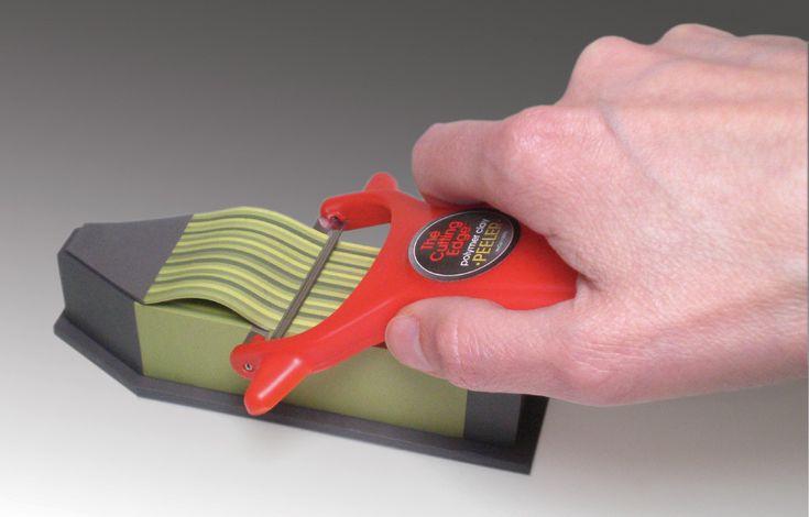 Dan Cormier's Peeler. Genius tool to create even polymer clay veneers.